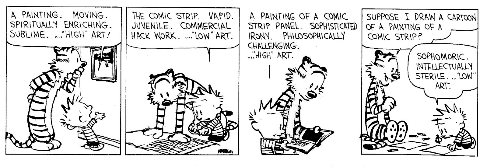 High Art and Low Art, Bill Watterson, Calvin & Hobbes - July 20, 1993