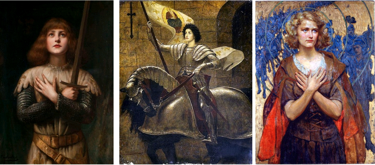 Jeanne séduisante (4). Paul Antoine de la Boulaye (1849-1926) - Sainte Jeanne d'Arc, circa 1909 / Joan of Arc, Sir William Blake Richmond, RA, circa 1910 / Joan of Arc, by Paul Spencer Swan, 1922, private collection, Italy