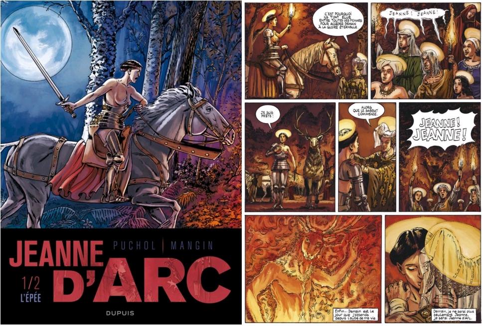 Jeanne d'Arc, Tome 1 - L'épée, Valérie Mangin et Jeanne Puchol, avec la contribution de Elvire De Cock, Dupuis, 2011