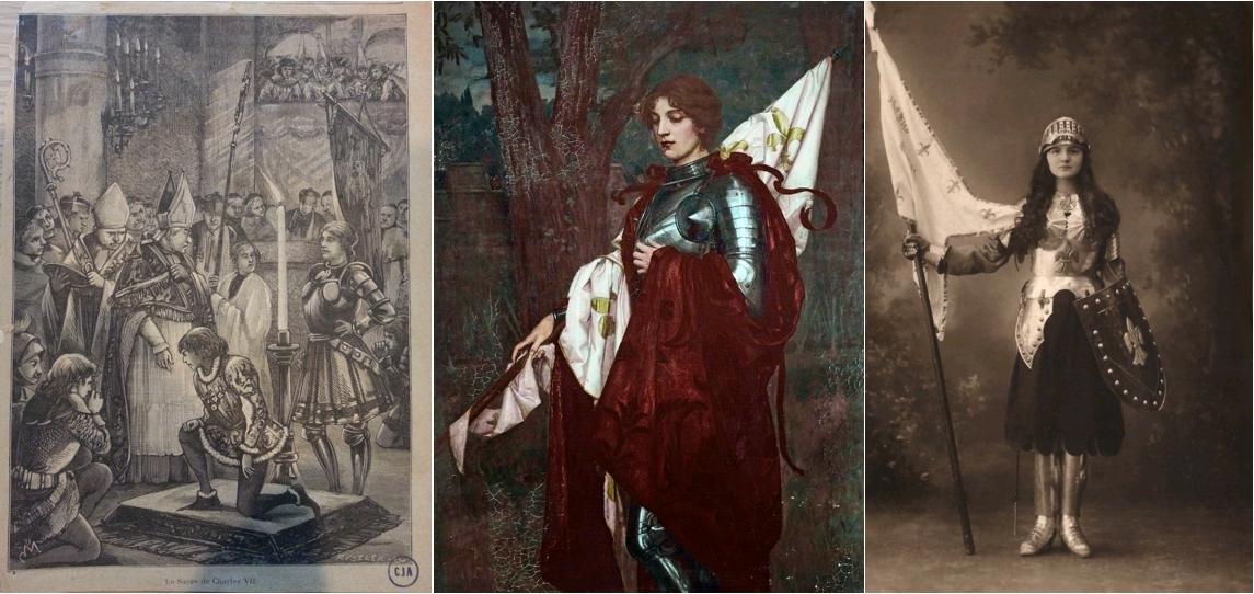 Le sacre de Charles VII, circa 1900 / Joan of Arc, Wolfram Onslow Ford, circa 1900, Williamson Art Gallery & Museum / Jeanne d'Arc, épée et bannière, carte postale, circa 1900
