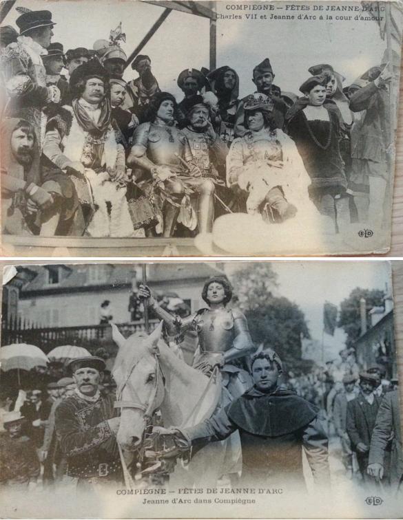 Compiègne - Fêtes de Jeanne d'Arc, cartes postales, 1909