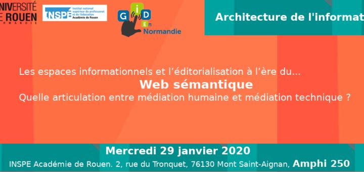 Matinée d'étude architecture de l'information et Web sémantique