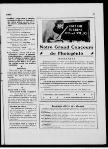 Cinéa, 1 janvier 1923