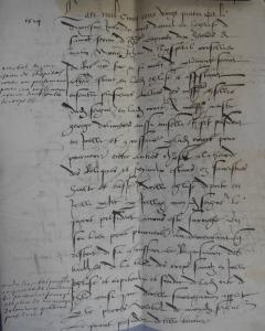 Inventaire des reliques de sacristie des Chanoines de Saint-Sernin en 1524, Ssin Sac 9.