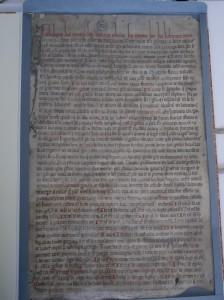 Catalogues des reliques de Saint-Just de Lyon, 1240. ADR, 12G129.