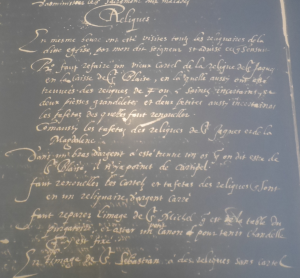 Un joli microfilm de la visite pastoral de l'église de la Dalbade en 1618