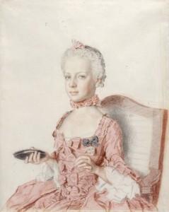Marie-Antoinette à 7 ans. Jean-Etienne Liotard, 1762. Genève, Musée d'Art et d'Histoire de Genève.
