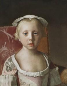 Fig. 1. La princesse Louisa Anne. Jean-Etienne Liotard, 1754. Londres, The Royal Collection.
