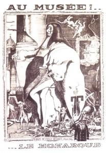 Caricature de Moissan, Le Canard enchaîné, 1963.