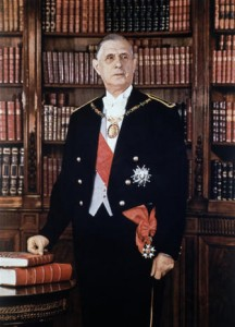 Portrait officiel du président de Gaulle, par Jean-Marie Marcel