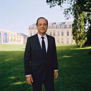 Portrait officiel de François Hollande par Raymond Depardon - 2012.