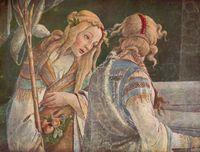Botticelli - Les filles de Jethro (détail)