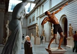 Martin Schoeller, Usain Bolt at The Metropolitan Museum of Art, New York, 2009.