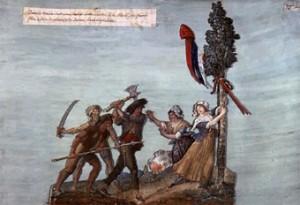 Brigands politiques contre les symboles républicains, auteur inconnu, XVIIIe siècle