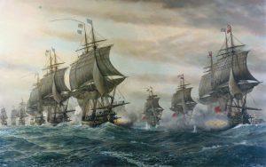 Bataille de la baie de Chesapeak, par V. Zveg.
