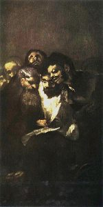 Francisco de Goya, Hommes lisant, musée du Prado