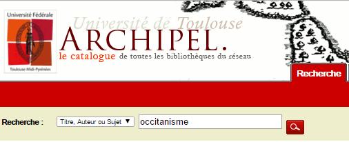 Catalogue informatisé des BU de Toulouse. CC
