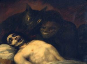 - Claire, on se réveille, tu as une journée de travail qui t'attend - Non. Francisco Goya, Exorcisme