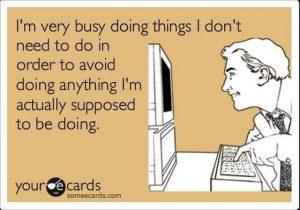 La procrastination n'est pas un péché, tous droits réservés, Someecards.com