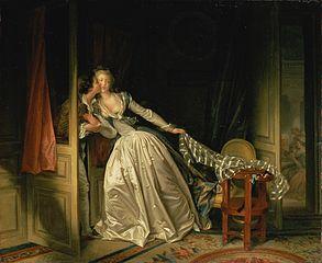 CC Wikipédia, Le baiser à la dérobée, Jean-Honoré Fragonard, fin XVIIIe
