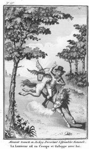 Autrement je vais finir par me faire poursuivre par une Bat-Lanterne (gravure parue dans les Révolutions de France et de Brabant, novembre 1789.)