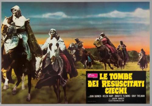 Les Templiers-zombies, une figure de l'épouvante typiquement espagnole et catholique (affiche italienne).