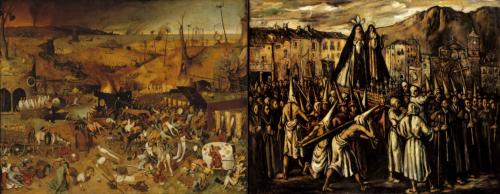 Le Triomphe de la Mort, Bruegel l'Ancien (1562) et Procesión de Semana, Santa, José Gutiérrez Solana (vers 1935-1939)