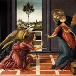 Sandro Botticelli, Annonciation, 1489-1490, tempera sur bois, 150 x 156 cm, Florence, Galerie des Offices.