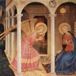 Fra Angelico, Annonciation,  1433-1434, tempera sur bois,  175 x 180 cm, Cortone, Museo Diocesano.