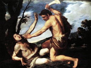 Pacecco de Rosa (1607-1656), Caïn tuant son frère Abel, 1620-1630, huile sur toile, 153x203cm, collection particulière.