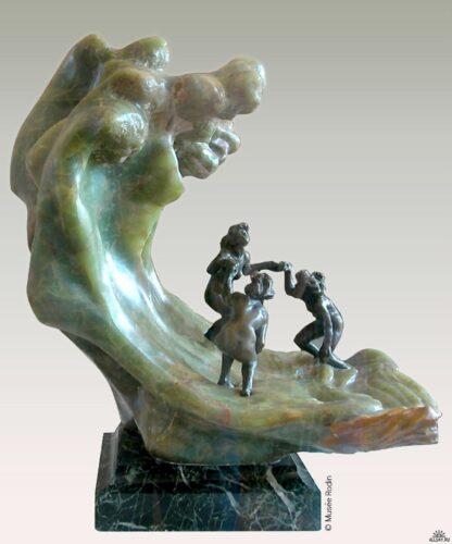 Camille Claudel, La Vague, 1897-1903, marbre, onyx, bronze, 62 x 56 cm x 50 cm, Paris, musée Rodin.