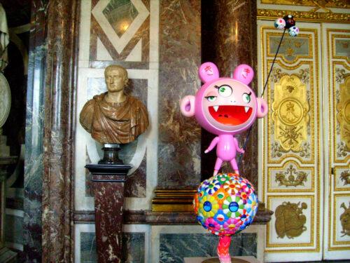 Takashi Murakami, Kiki, 2005, Huile, acrylique, résines synthétiques, fibre de verre et inox, 212,5 x 102 x 50,5 cm, Versailles, exposition Takashi Murakami.