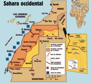 Carte issue de « La dernière colonie d'Afrique », article de Flore Vienot, 11 juin 2015