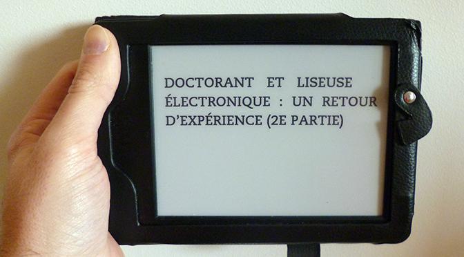 Doctorant et liseuse électronique : un retour d'expérience (2e partie)