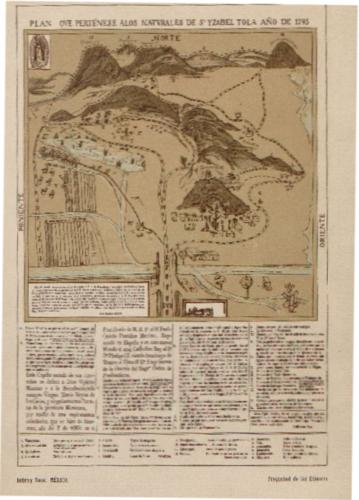Plano de Santa Isabel de Tola, localidad donde se encuentra el Santuario de la Virgen de Guadalupe