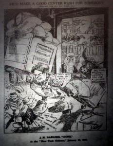 Caricature de Hoover parue dans le bulletin de la CRB, 01/05/1920, AGR T 030 5