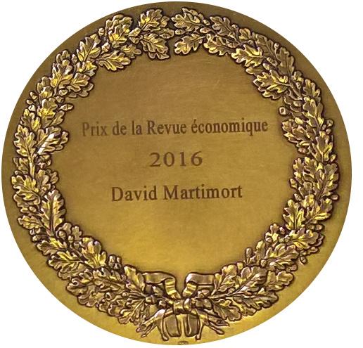 Médaille du Prix de la Revue économique 2016