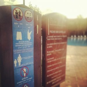 Burkini not allowed. Minimum flesh requiered. by  Bruno Sanchez-Andrade Nuño, CC BY 2.0