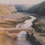Pont de la république amont (Virey, 50), 1993. Cliché 115B