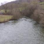 Pont du bateau amont (Ducey, 50), Février 2015