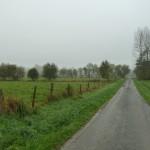 Inondations sur la route à Poilley (Poilley, 50), Novembre 2013