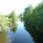 la Sélune au Pont de Signy amont (Ducey, 50), Mai 2014