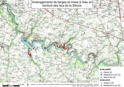 Figure 6 – Carte des aménagements de berges