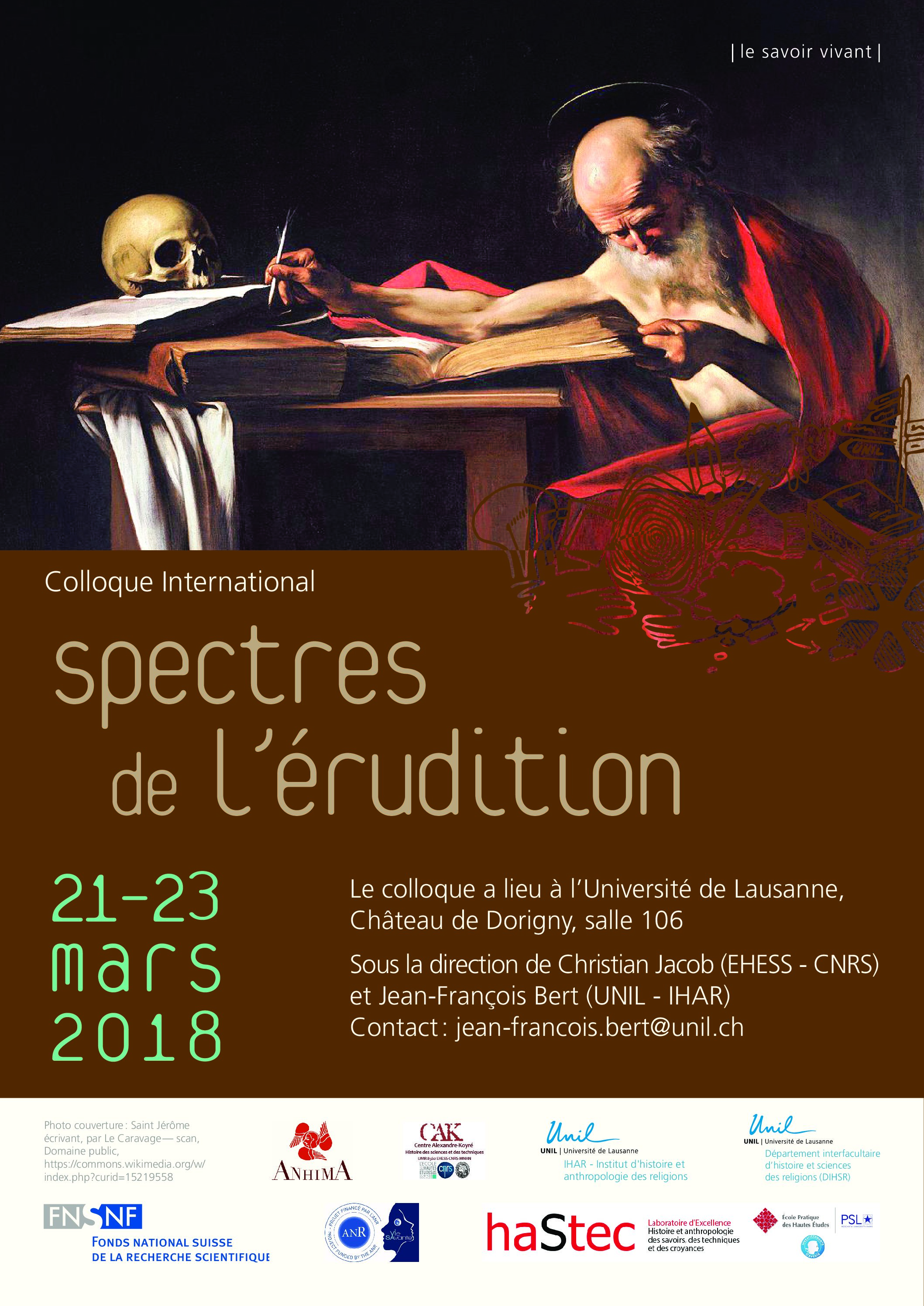 Spectres de l'érudition