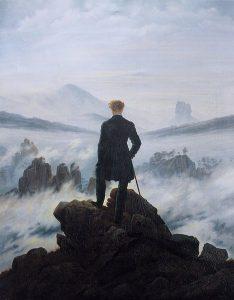 Friedrich - Voyageur contemplant une mer de nuage