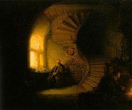 Rembrandt - Le philosophe en méditation