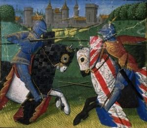 Combat de Lancelot et de Palamède - Kopie