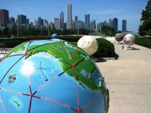 John LeGear, Cool Globes Downtown ,Chicago,