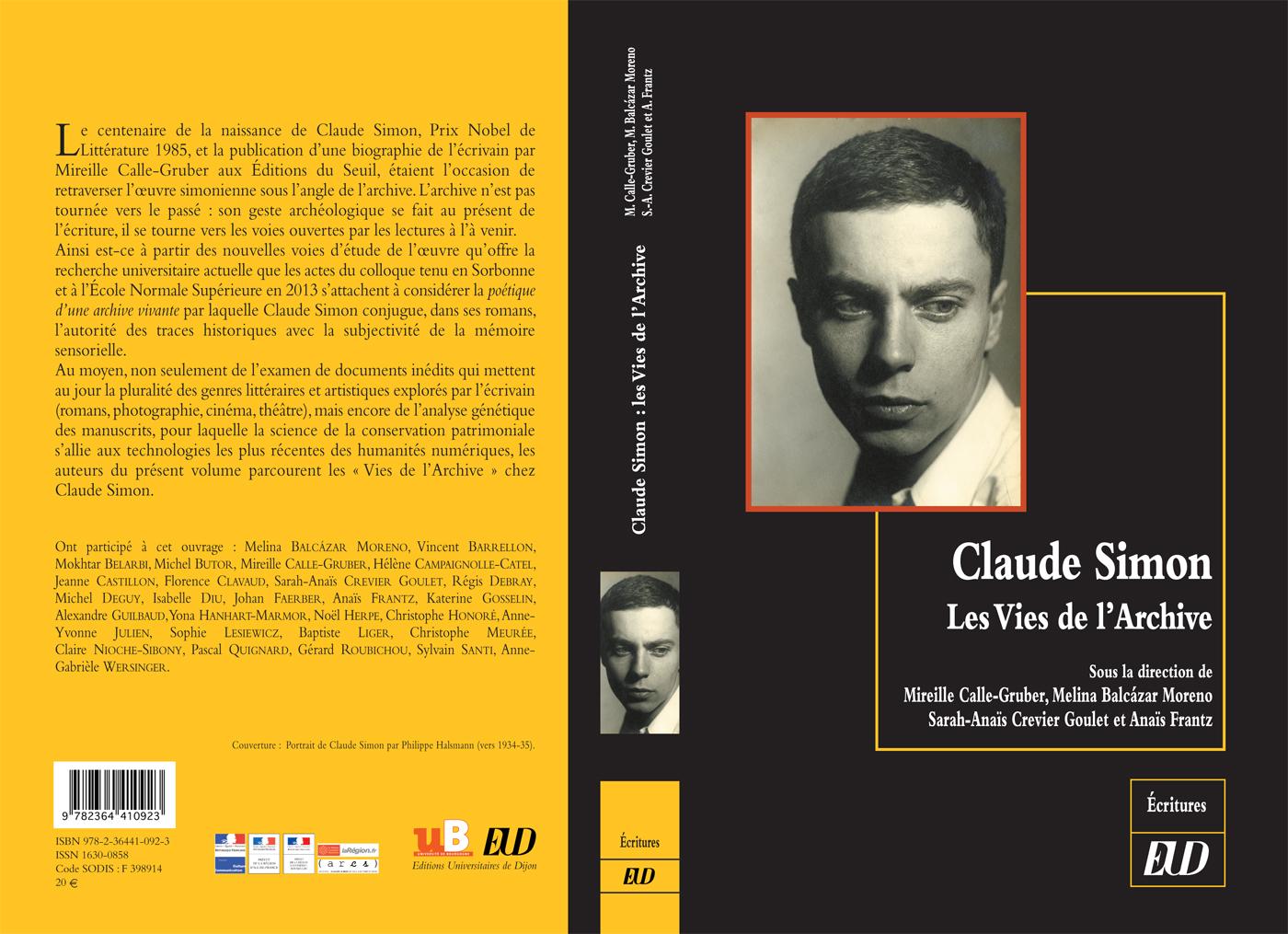 Claude Simon - Les Vies de l'Archives
