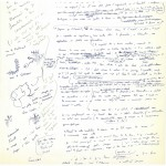 Manuscrits avec dessins de Claude Simon